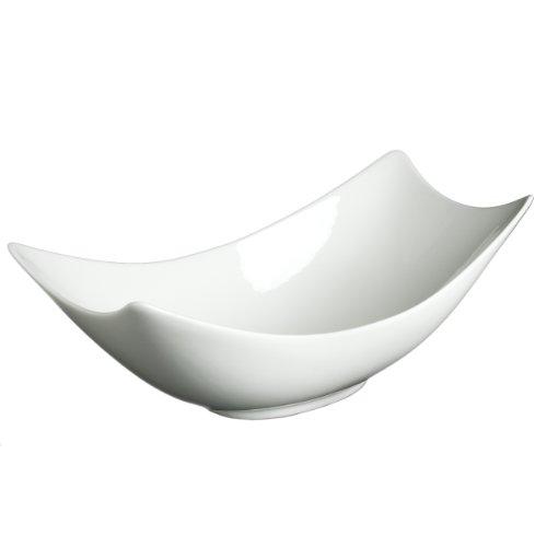 Fortessa Fortaluxe SuperWhite Vitrified China Dinnerware 10-12-Inch Rectangular Flair Serving Bowl Set of 3