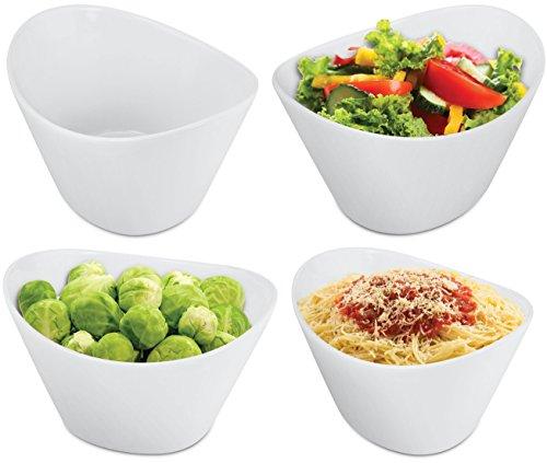 KOVOT 4 Piece Porcelain Serving Bowl Set 40 oz White
