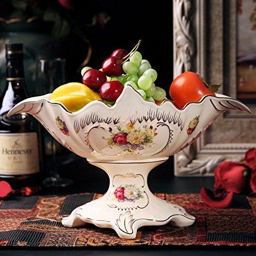 Ceramic Fruit BowlParlor OrnamentsDessert PlateSnack Plate-A