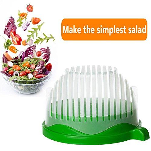 60 Seconds Salad Maker Salad Cutter Bowl Multi-functional kitchen helper- Salad Chopper Bowl Fruit Bowl Salad Bowl Salad Chopper Vegetable Slicer Vegetable Bowl(Green)