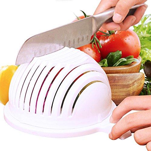 SLC Salad Cutter Bowl Vegetable Cutter Bowl 60 Seconds Salad Maker Fruit Vegetable Chopper Salad Slicer Salad Chopper Bowl and Strainer