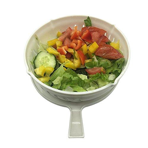 Salad Cutter Bowl60 Seconds Safe Salad Chopper BowlChop Fresh Vegetables Fruits and Make Salad Fast