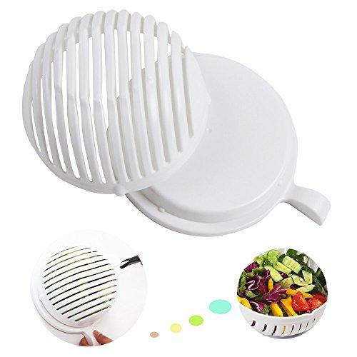 Salad Cutter BowlVegetable Cutter Bowl - Salad Cutter Bowl Fruit Vegetavle Salad Maker Chopper Creates great healthy salads in 60 seconds