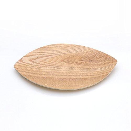 Modern solid wood bowls creative leaf-shaped fruit candy seed-box-A