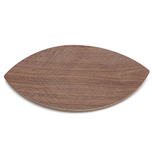 Modern solid wood bowls creative leaf-shaped fruit candy seed-box-E