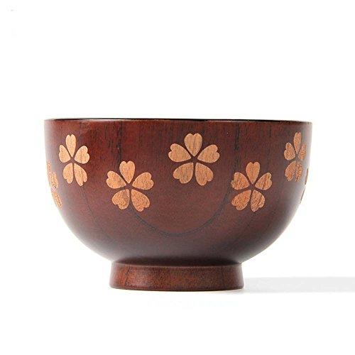 XH Sakura Solid Wood Bowl Handwork Painting and Carving for Miso Rice 1157cm Sakura