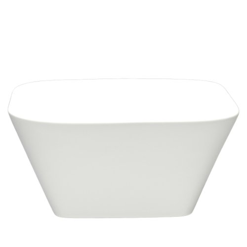 Fortessa Fortaluxe SuperWhite Vitrified China Dinnerware 6-Inch Square Deep Serving Bowl Set of 6