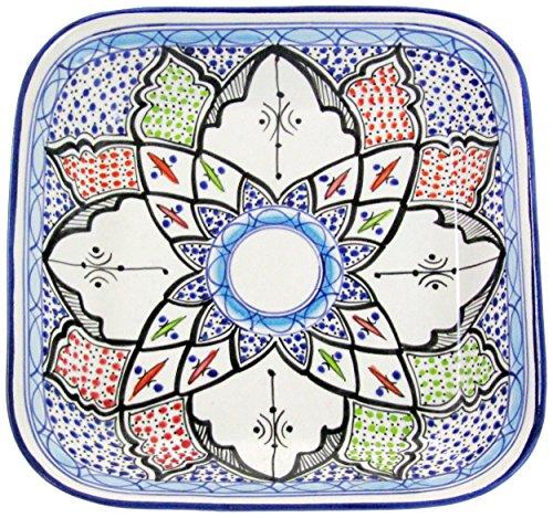 Le Souk Ceramique TIB08 Stoneware Square Serving Bowl Tibarine