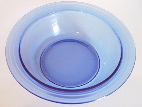 Hazel Atlas Cobalt Blue 9 Serving Bowl Moderntone with Rim