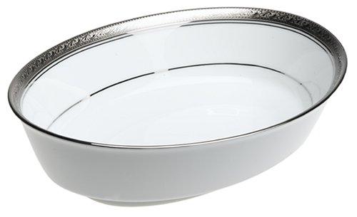 Noritake Crestwood Platinum Oval Vegetable Serving Bowl