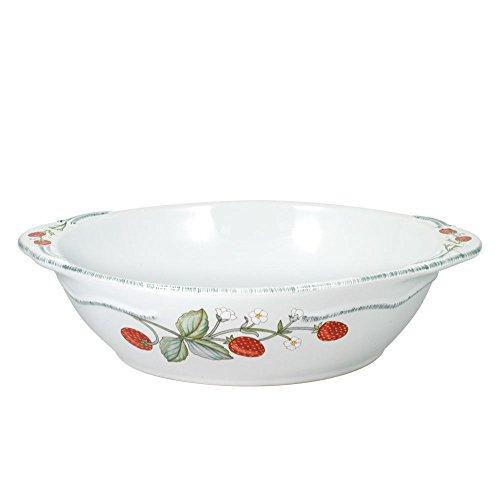 Pfaltzgraff Strawberry Vine Oval Vegetable Serving Bowl 1-34-Quart