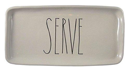Rae Dunn Magenta Ceramic Serving Platter Tray Plate Serve