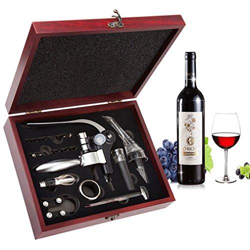 Wine Opener Set - Smaier CorkscrewWine Accessories Areator Wine Opener Kit with Wood Case