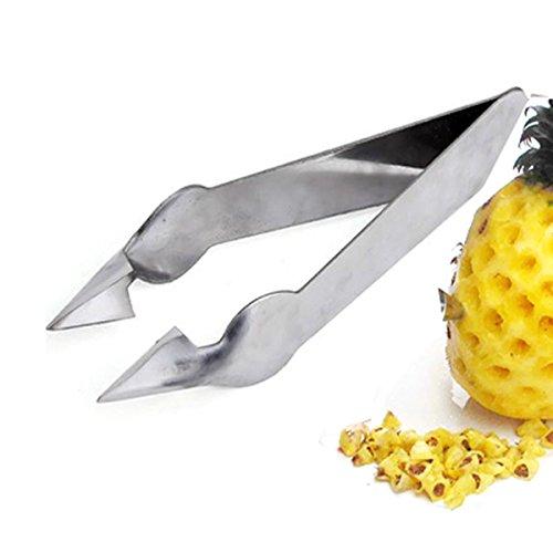 2pcs Stainless Steel Pineapple Eye Peeler Knife Pineapple Eye Remover Clip