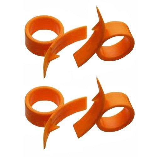 4 Round Orange (citrus Fruit) Peelers