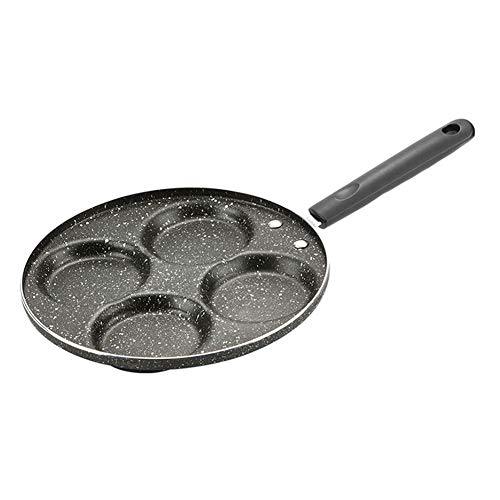 YESZ Omelette Pan Kitchen Tools4 Hole Non-Stick Omelette Frying Grill Pan Handle Breakfast Eggs Ham Cooking Pot - Bakelite Handle