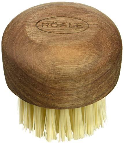Rösle Vegetable and Mushroom Cleaning Brush with Walnut Wood Handle
