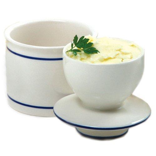 Norpro Glazed Stoneware Butter Keeper