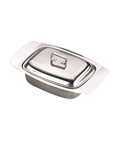 Zodiac Stainless Steel Butter Dish With Lid