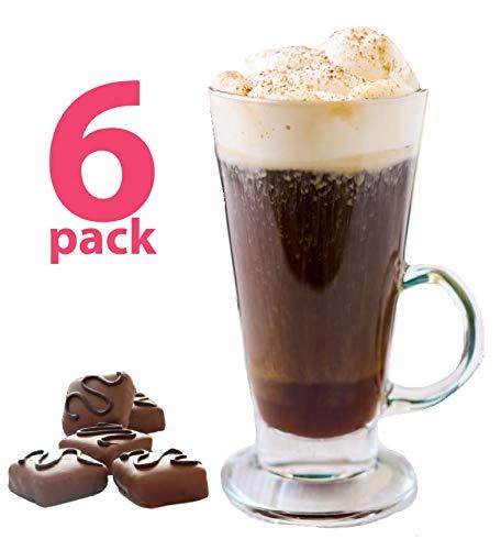 Irish Coffee Mug Tall Lead Free glass 10 Ounces 6-piece Set 10 Ounces
