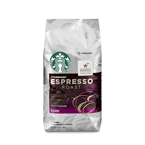 Starbucks Espresso Roast Dark Roast Ground Coffee 12-Ounce Bag