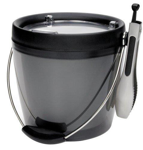 Oxo Good Grips Plastic Ice Bucket With Ice Tongs