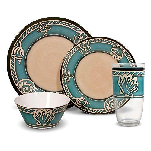 Pfaltzgraff Montego Melamine Dinnerware Set 32 Piece