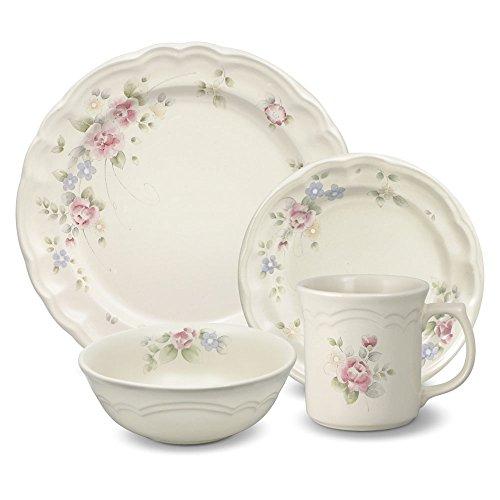 Pfaltzgraff Tea Rose 32 Piece Dinnerware Set Service for 8