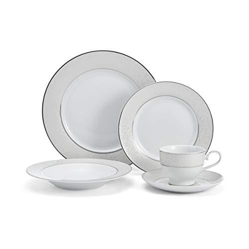 Mikasa 5224232 Parchment White 40-Piece Dinnerware Set Service for 8