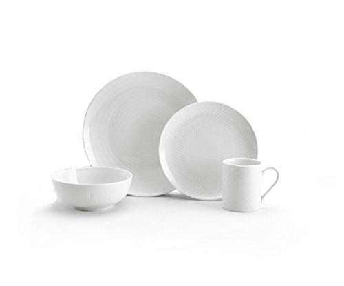 Mikasa Cheers White 40-Piece Cheers Dinnerware Set Service for 8