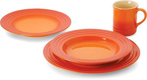 Le Creuset Stoneware 4-Piece Dinnerware Set Flame