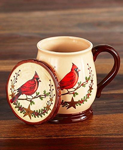 2-Pc Holiday Mug Coaster Sets  Cardinal