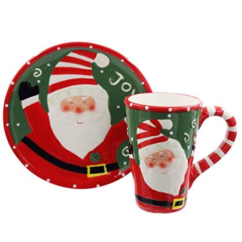 Caramic Mug and Coaster Set with Gift Box Santa