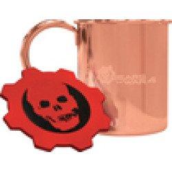 Microsoft Limited Edition Gears Of War 4 Mug Coaster Set Copper Plating