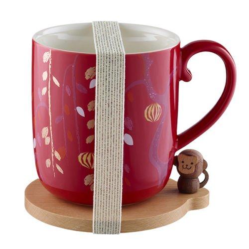 Starbucks 2016 Year of the Monkey 12oz mug with coaster