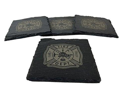 Fire DepartmentFirefighter Slate Coaster Set
