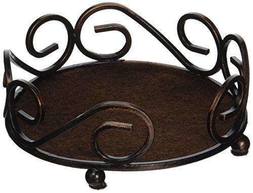 Thirstystone Round Scroll Coaster Holder Fits 425 Ceramic Bronze