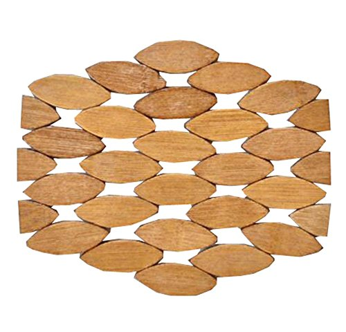 6 PCS Thicken Bamboo Drink Coasters Wooden Placemats for Kitchen Table67 inch