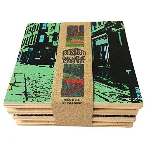 Boston Handmade Wooden Coaster Set