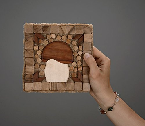 Handmade wooden coaster for hot dishes kitchen decoration