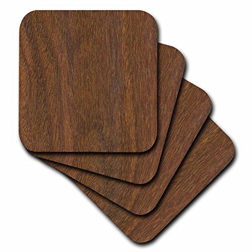 3dRose cst_41630_2 Teak Wood Soft Coasters Set of 8