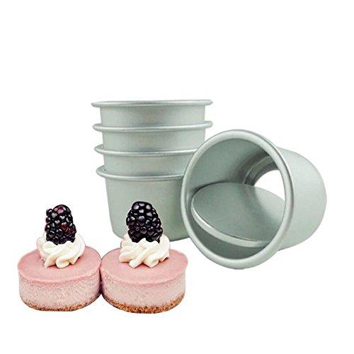 Astra Gourmet Perfect Performance Aluminium Mini Round Cheesecake Pan Cupcake Pan Muffin Pan Perfect for Indivdiual Desserts Set of 10