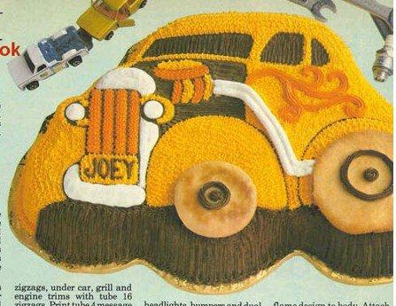 Wilton Cake Pan Comical CarClassic CarHot RodCoupe 502-236 1976
