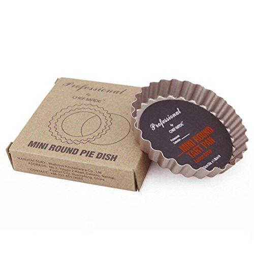 ComeSINE 4-Inch Novelty Flower Cake Pans Non-Stick Carbon Steel Mini Tart Pans Cake Mold