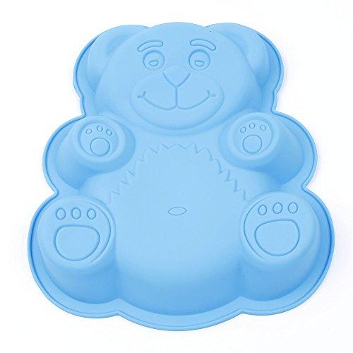 Bear Cake Pan Silicone Mold Large Non-stick Reusable Molds DIY Giant Gummy Bear
