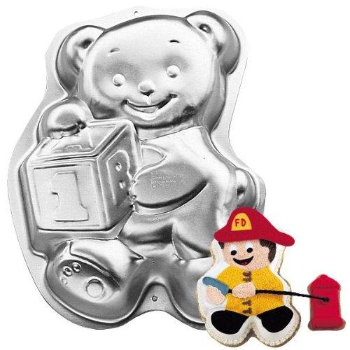 Wilton Cake Pan Teddy Bear with Block 2105-8257 1995