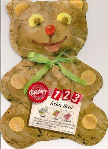 Wilton Teddy Bear Easy 1 2 3 Cake Pan 2105-9402 1986 Retired