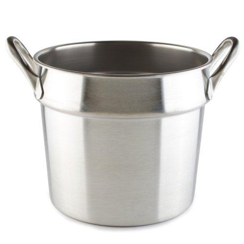 Vollrath 77133 20 Qt Stainless Steel Double Boiler Inset - Flat Bottom