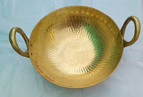 Finaldealz Brass Regular Karahi Cooking Kadai Pots Pan Cooking Woks Capacity 4 Litre