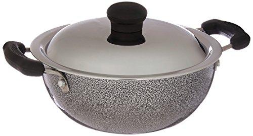 Prestige Manttra Omega Select Plus 200 Deep fry pan Kadai Indian kadhai Small Black